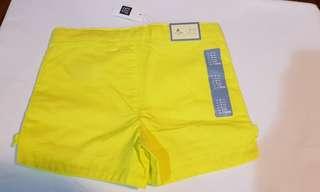 Gap yellow green shorts
