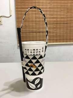 🚚 環保飲料杯套提袋(棉布材質)~不議價