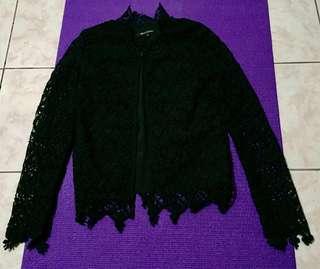Preloved Long Sleeve Lace Blouse / Blazer