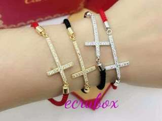 New Arrival Red / Black Cord with Cross