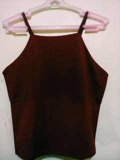 Halter Crop top (Maroon)