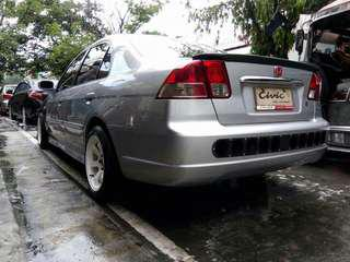 Honda Civic 2001 - 2005 Rear Bumper with Speed holes