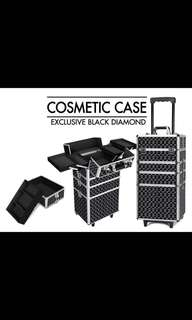 Makeup trolley case with locks