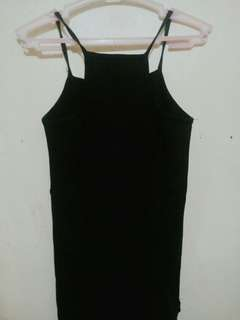 Plain Black Halter Crop top