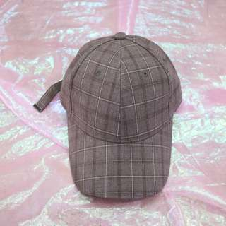 格子造型中性老帽