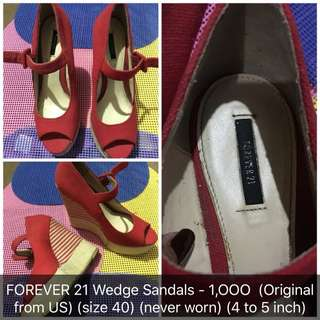Forever 21 Wedge sandals