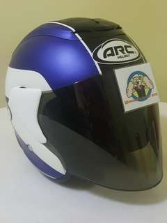 1506*** ARC AR1 TIARA MATT BLUE  with tinted visor Helmet For Sale 😁😁Thanks To All My Buyer Support 🐇🐇 Yamaha, Honda, Suzuki