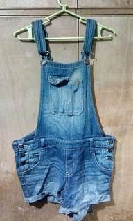 Denim Jumper Shorts
