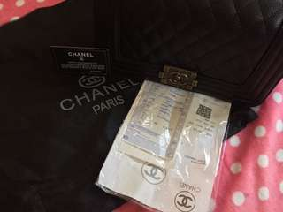Channel 2 way bag with small flaw
