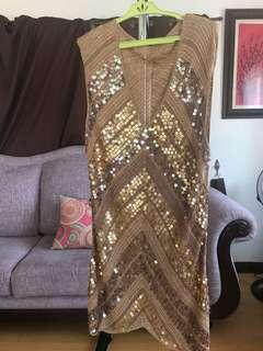 Sequined crochet dress