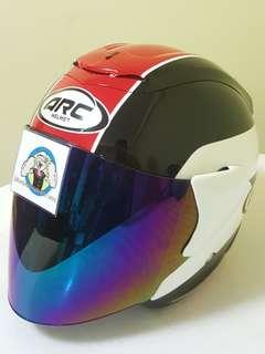 1506*** ARC AR1 TIARA RED with Rainbow visor Helmet For Sale 😁😁Thanks To All My Buyer Support 🐇🐇 Yamaha, Honda, Suzuki