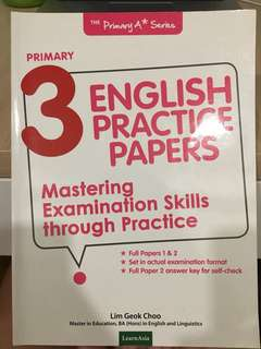 PRIMARY 3 ENGLISH ASSESSMENT