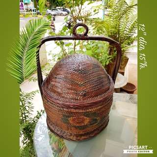 Vintage Peranakan Wedding Basket or Gift Basket. Good Condition. $20 Clearance offer. Sms 96337309.