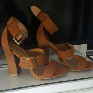 S.6.5 Bamboo Thick Heels