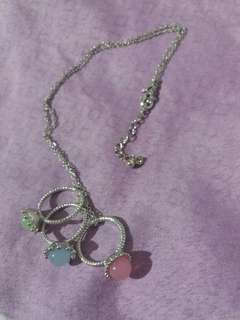 Silver necklace (trio ring pendant)