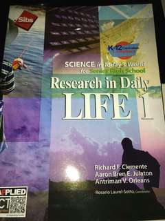 RESEARCH IN DAILY LIVES 1