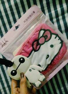 Hello Kitty Mask & FREE Baymax bag keychain