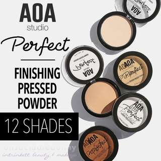 🆕Perfect Finishing Pressed Setting Powder 12 Shades AOA Studio INSTOCK Cosmetics