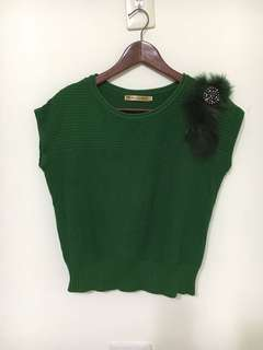 🚚 【MiQi】《慶祝再降價price cut》金夫人鑲鑽毛線上衣