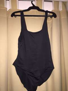 Black swimsuit with back detail