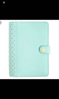Kikki k perforated planner in mint (personal size)