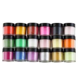 (954)18 Colors Acrylic UV Polish Kit Decorate Manicure Powder Nail Art Set
