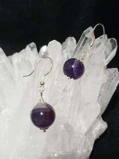 Amethyst earring