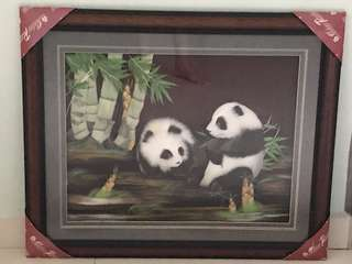 3D Panda Artwork Painting