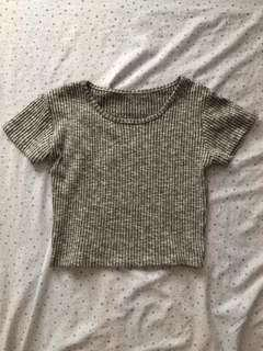 Grey croptop