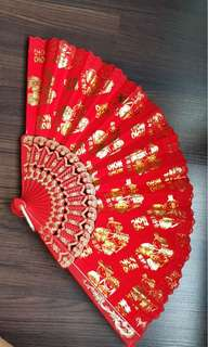 Wedding Red Fan