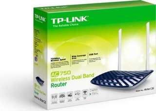 全新TP-Link Archer C2 (AC750 Wireless Dual Band Gigabit Router)