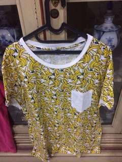 H&M Banana Tshirt