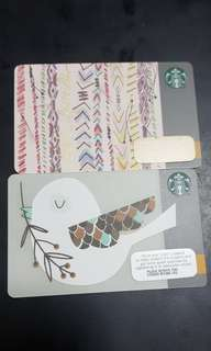 Starbucks Card 2 pieces for 10$