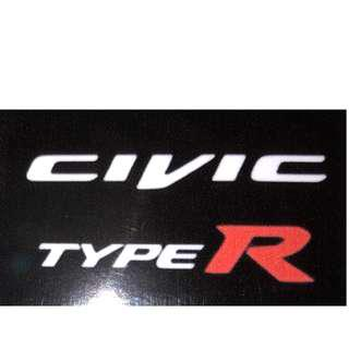 Civic Type R Decal