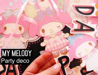 My melody party deco