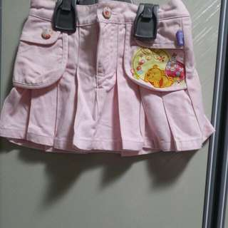 BABY CLOTHES DISNEY WINNER THE POOH GIRL SKIRT FOR 3-4YEARS.