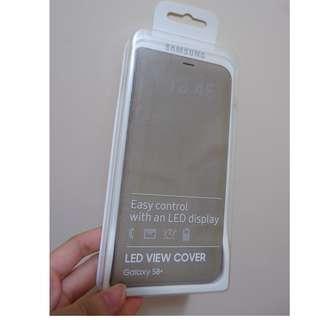 [99%新]Samsung Galaxy S8+ LED 翻頁式皮套 (智能LED顯示來電/信息/報時等)