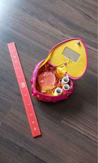 Wedding sewing kit and ruler