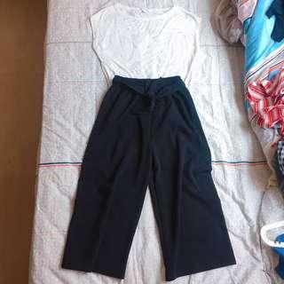 Set price $60 / GAP tee + 黑色闊腳褲(橡根腰)