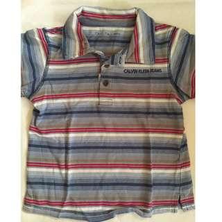 Auth Calvin Klein Polo Shirt for Toddler Boy