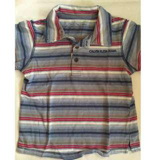 Auth Calvin Klein Polo Shirt for Toddler Boy