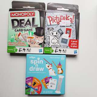 🚚 Card games - Monopoly Deal / Smiggle Spin and Draw / Pictureka