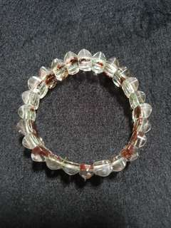 Red phantom quartz bracelet