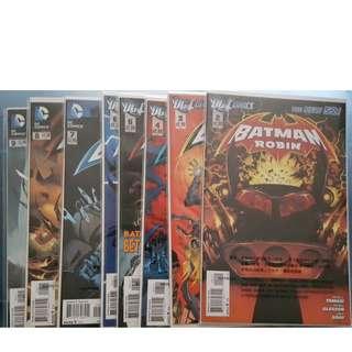 DC COMICS NEW52 BATMAN & ROBIN #2-9 + BATMAN INC. #8 共9本 美國漫畫