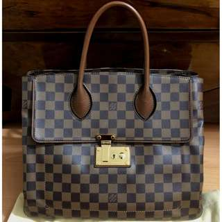 LOUIS VUITTON damier ebene ascot bag (2013)