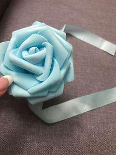 Blue Flower Bridesmaid Wrist Corsage