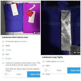 More fake Lululemon