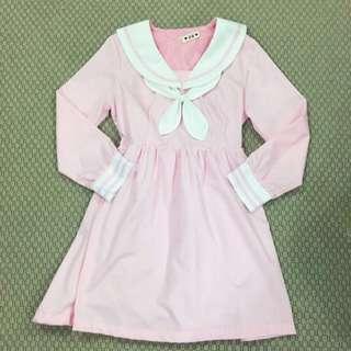 Lolita Pink Sailor School Girl Dress 🌸