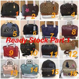 Ready Stock Original Coach women Handbag sling bag crossbody handbag Tory Burch Kate Spade Micheal Kors