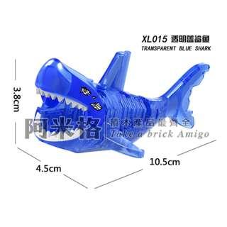 🚚 阿米格Amigo│XL015 透明藍鯊魚 幽靈鯊魚 Ghost Shark 加勒比海盜 將牌 第三方人偶 非樂高但相容